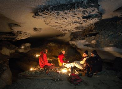 Overnight adventure in the ice caves