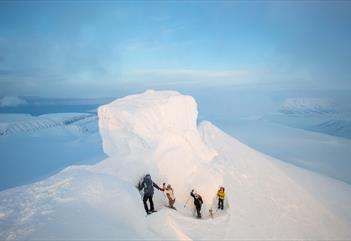 Trollsteinen: Topptur over breen - Svalbard Wildlife Expeditions