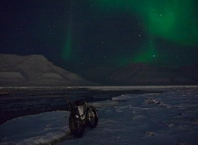 Bike and Northernlights